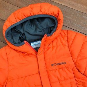 Columbia Orange Puffer Jacket